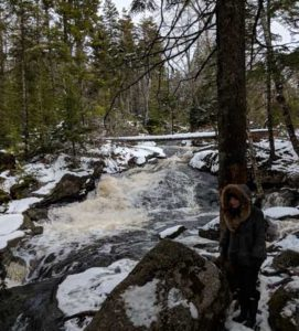 Waterfall at Nichol's Lake Hiking Trail, Halifax