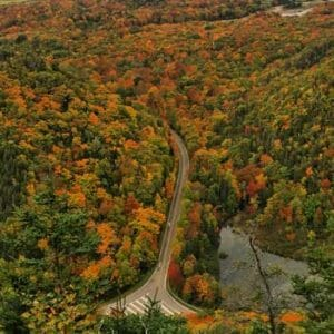 Fall Foliage at Acadian Trail Cape Breton